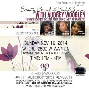 "Don't miss @DaHairDoctor of DaHairDoc.com guest speaking this Sunday at Author, Audrey Woodley's ""Beauty, Brands & Book Signing!"""